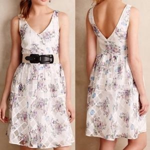 Maeve Peony Garden Floral Paned Dress